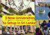 Sri Lanka to set up 3 new universities UGC