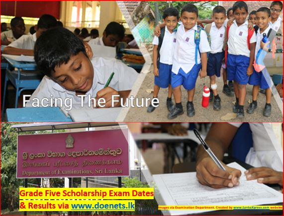 Grade Five Scholarship Exam Dates Time Table and Results via www.doenets.lk