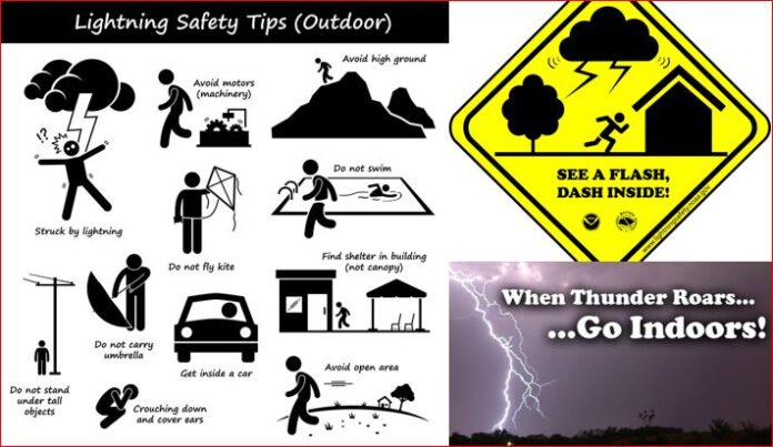 Increase in Thunder and Lightning activities Bakmaha Akunu