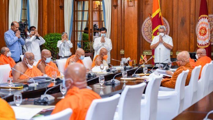 Sri Lanka - Country should not remain stagnated: We should progress commercially : Maha Sanga