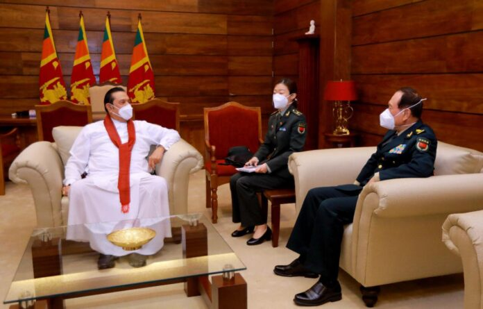 China's Minister of Defence, Wei Fenghe had bilateral discussions with Prime Minister Mahinda Rajapaksa