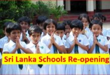 Sri Lanka School Reopening Dates to decide during a meeting