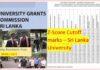 University Z Score Cut Off Marks Release July End to www.ugc.ac.lk