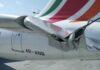 Sri Lankan Airline flight damage