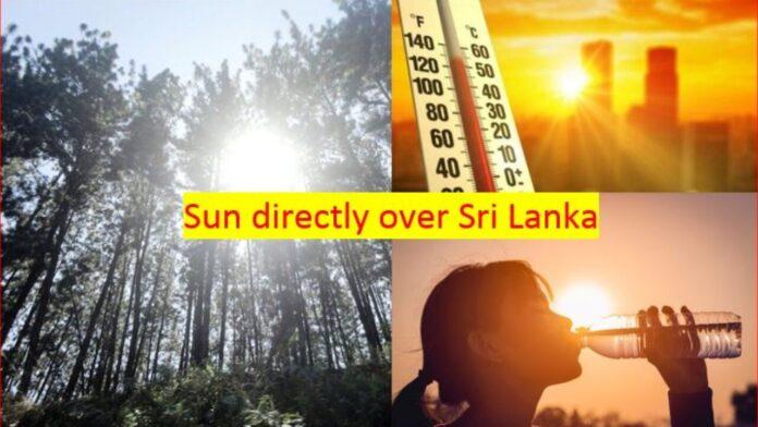 The Sun going directly over Sri Lanka