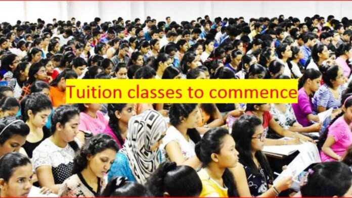 Private tuition classes in Western Province to resume