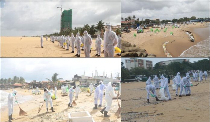 Army Troops Deployed along Coastal Belt to Disperse People Collecting Ship Debris & Help Conserve Environment