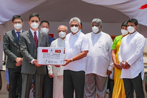 China gifts another batch consisting of 500,000 doses of Covid-19 Sinopharm vaccine to Sri Lanka