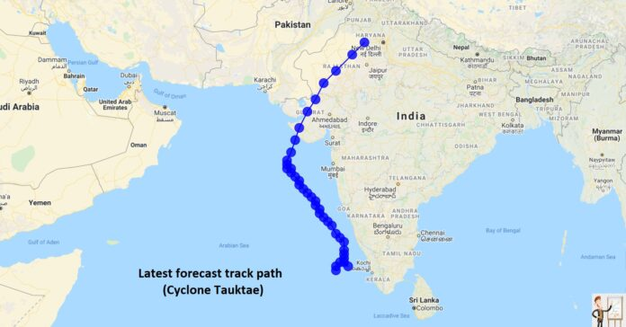 Low pressure area to a cyclonic storm Tauktae