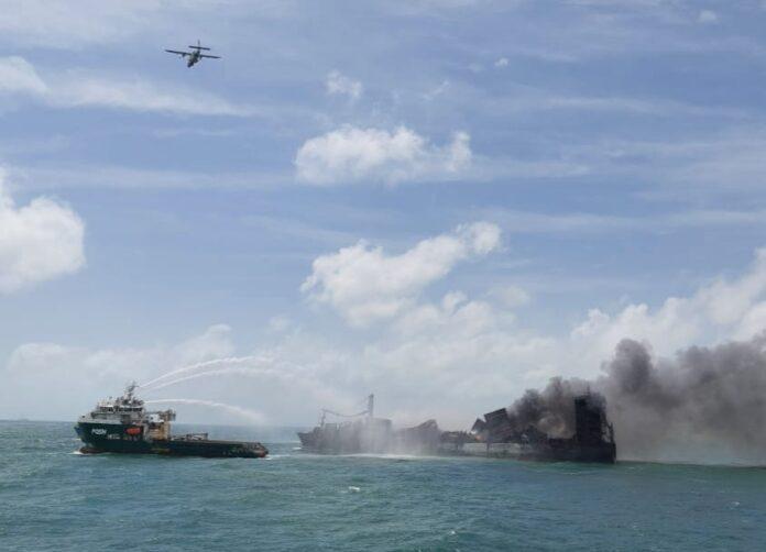 MV Xpress Pearl Ship Fire Fighting Operation