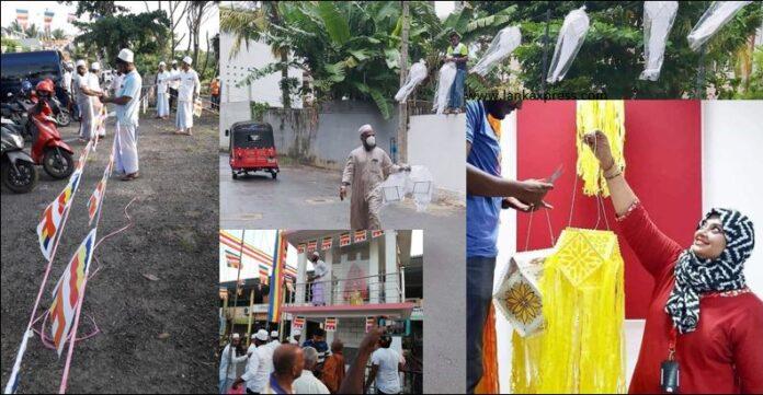 Sri Lankan Muslim community All Ceylon Jamiyyathul Ulama pray for a safe Vesak