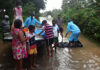 Sri Lanka Navy relief teams rescue flood victims and extend relief measures