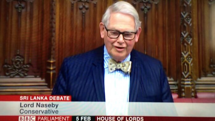 Statement of Lord Naseby at the Debate on the Queen's Speech at the House of Lords