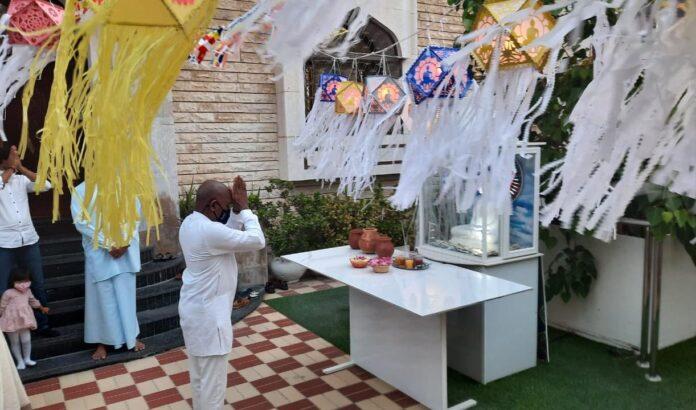 The Embassy of Sri Lanka in the United Arab Emirates celebrated Vesak on 26 May 2021 at the Embassy premises
