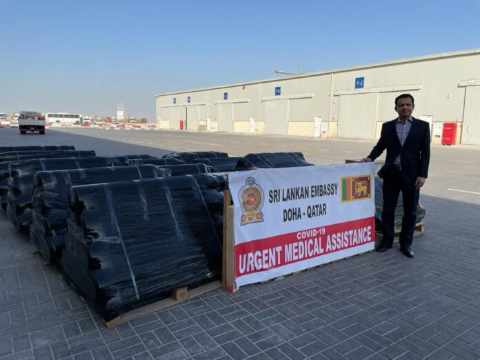 Donation of another 125 Oxygen Cylinders and 10 Oxygen Regulators from Doha-Qatar to reinforce the Health Sector in Sri Lanka