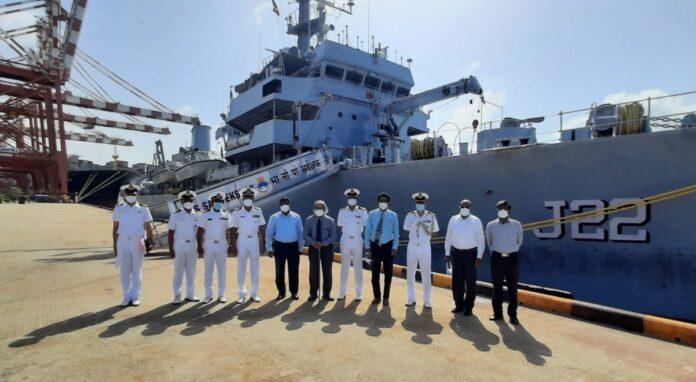 Indian Naval Ship INS Sarvekshak arrives at Colombo for Survey Assistance