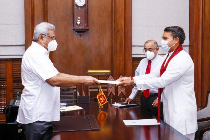 Minister Namal Rajapaksa sworn in as State Minister of Digital Technology and Entrepreneur Development