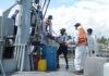 Navy brings ashore a fisherman injured at high seas for treatment