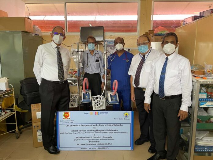 Rotary Colombo and SLF (USA) Donate Urgent Medical Equipment