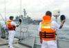 Sri Lanka Navy SLN and Japan JMSDF conduct passage exercise off Colombo
