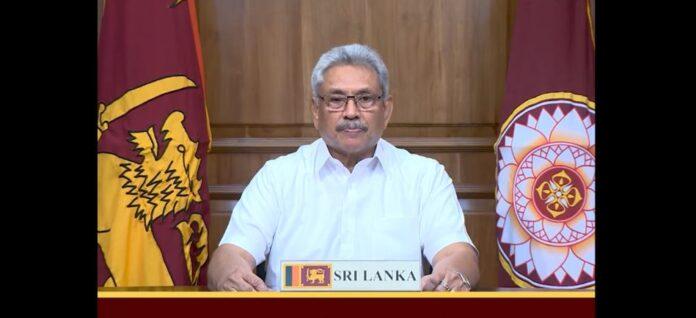 Sri Lanka President Gotabaya Rajapaksa Addressing