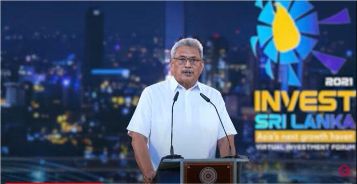 Sri Lanka President address Investment Forum 2021