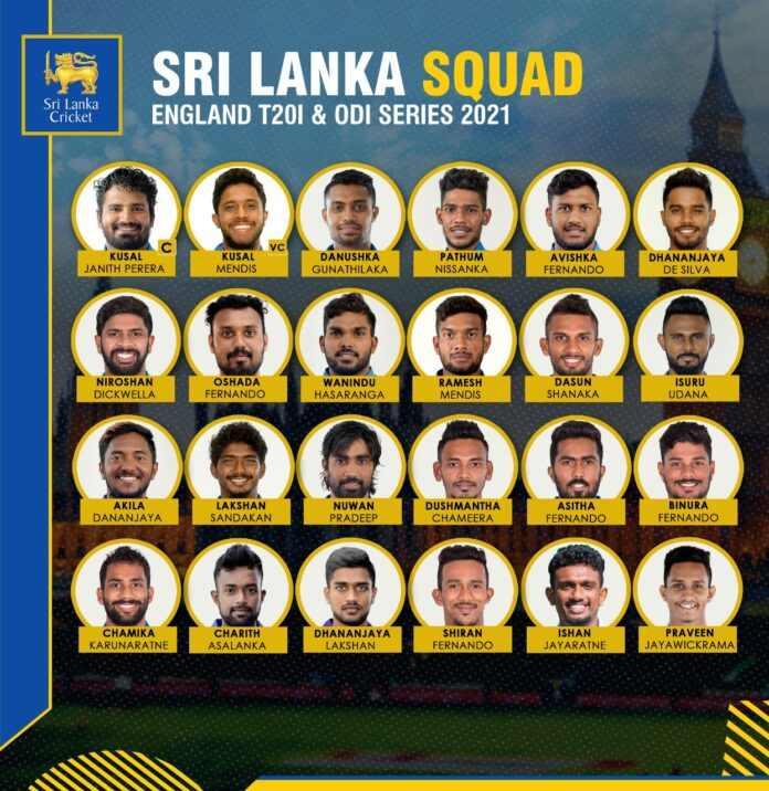 Sri Lanka announced 24 member squad for England T20I and ODI Cricket series