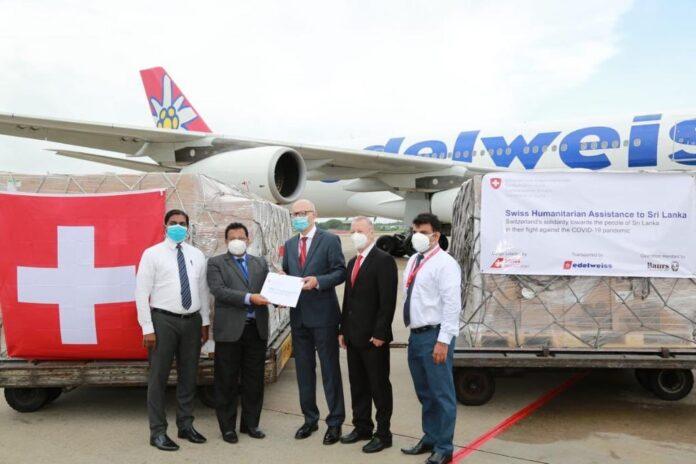 Switzerland sends humanitarian aid to Sri Lanka