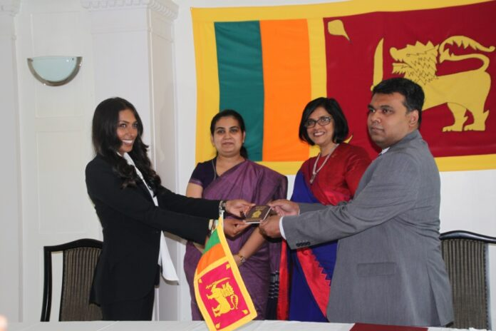 Sri Lanka Embassy in Germany felicitates Equestrian Mathilda Karlsson ahead of 2020 Tokyo Olympics