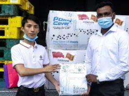 Donation of 100000 face masks to Sri Lanka