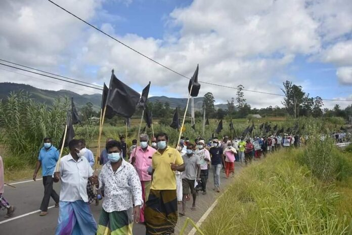 Farmers protests Sri Lanka