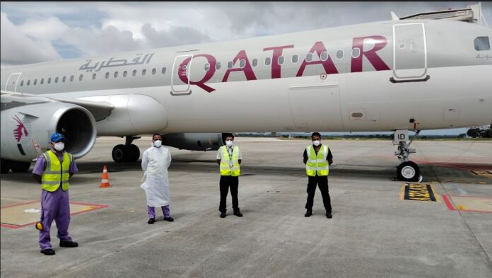 SriLankan Airlines carries out certification on Qatar Airways at MRIA