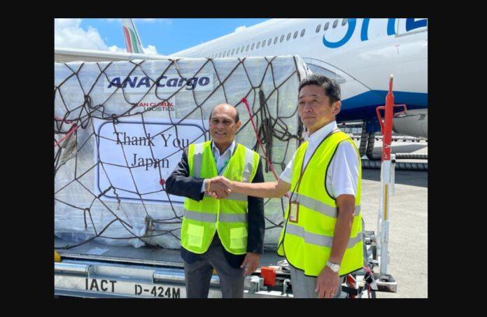 AstraZeneca vaccination shipment to Sri Lanka from Japan