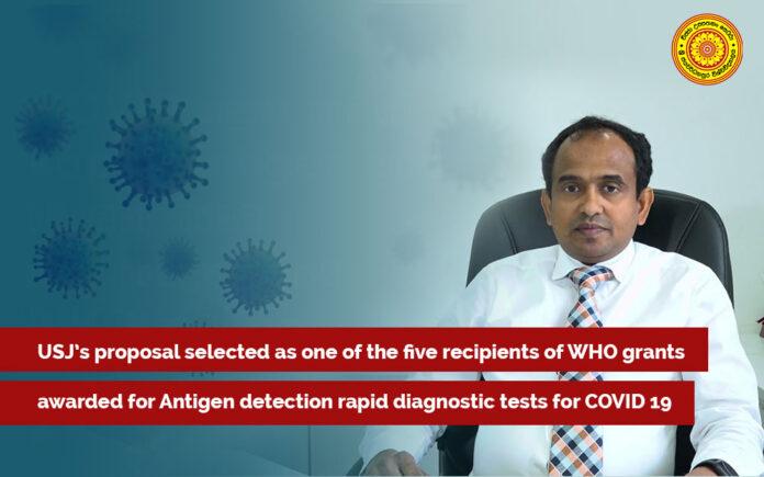 USJP proposal selected WHO grants awarded for Antigen detection rapid diagnostic tests