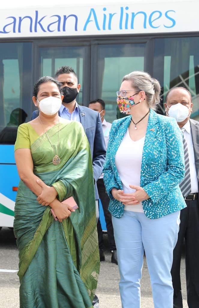 Sri Lanka received 1.5 million Moderna COVID Vaccines as a donation from the United States through WHO's COVAX facility