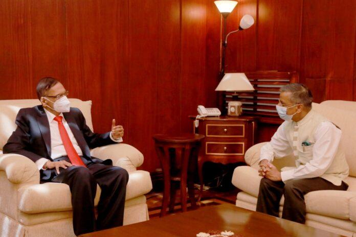 High Commissioner of India to Sri Lanka Gopal Baglay calls on Foreign Minister Prof. G.L. Peiris