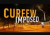 Night Time Curfew imposed Sri Lanka