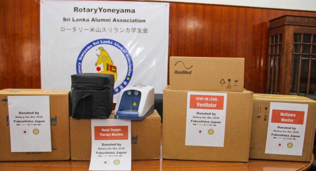 Rs. 3.26 Mn Worth Medical Equipment donated to Kalubowila Hospital by Rotary Yoniyama