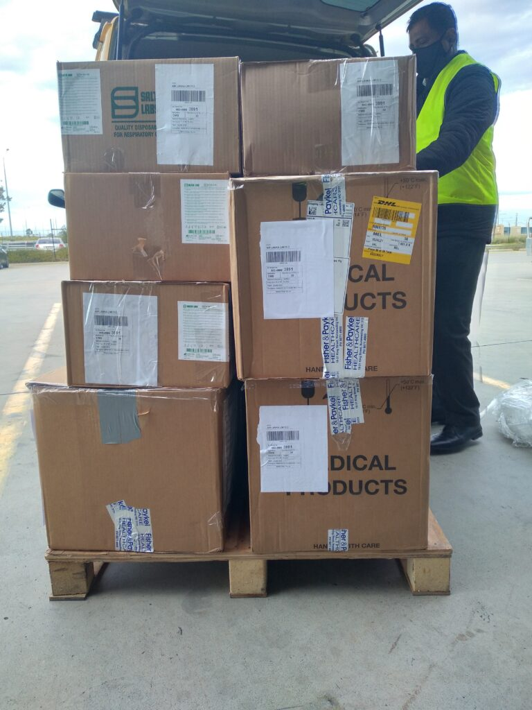 Two tons of medical equipment donated by Sri Lankan community in Australia sent to Sri Lanka