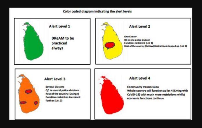 Sri Lanka COVID Alert Level 4 according to GMOA