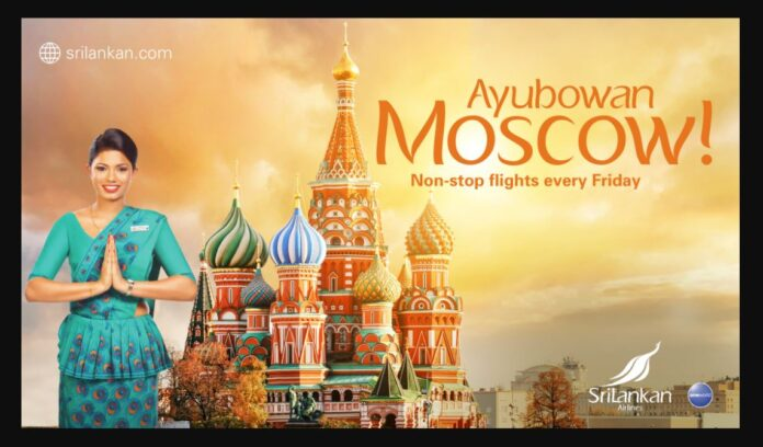 SriLankan Airlines Offers special buy one get one free offer to Moscow for Russian Holidaymakers