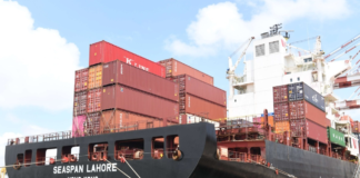 SLPA took successful measures to quell a chemical leak from a container on board MV Seaspan Lahore at Colombo Port