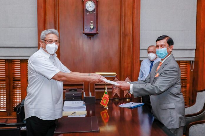 Ajith Nivard Cabraal received the letter of appointment from the President