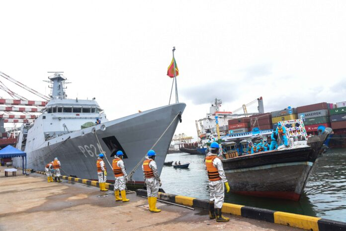 Navy intercepts foreign fishing vessel carrying heroin worth over Rs. 1575 million