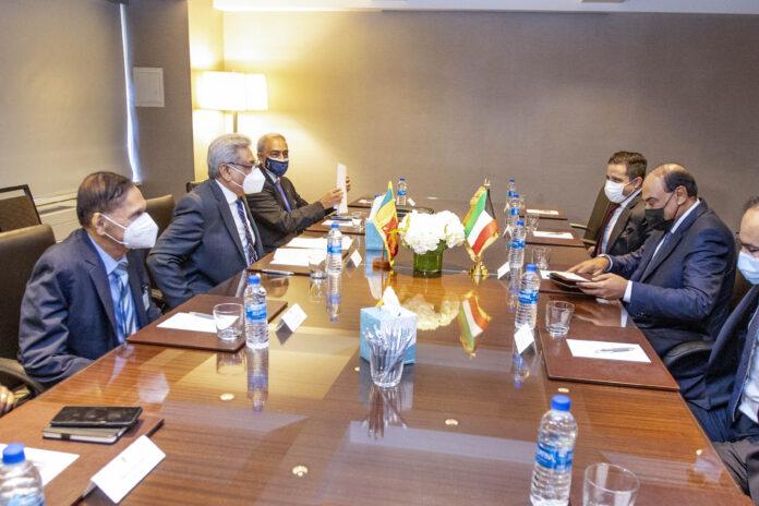 Sri Lanka President meets Kuwait Prime Minister