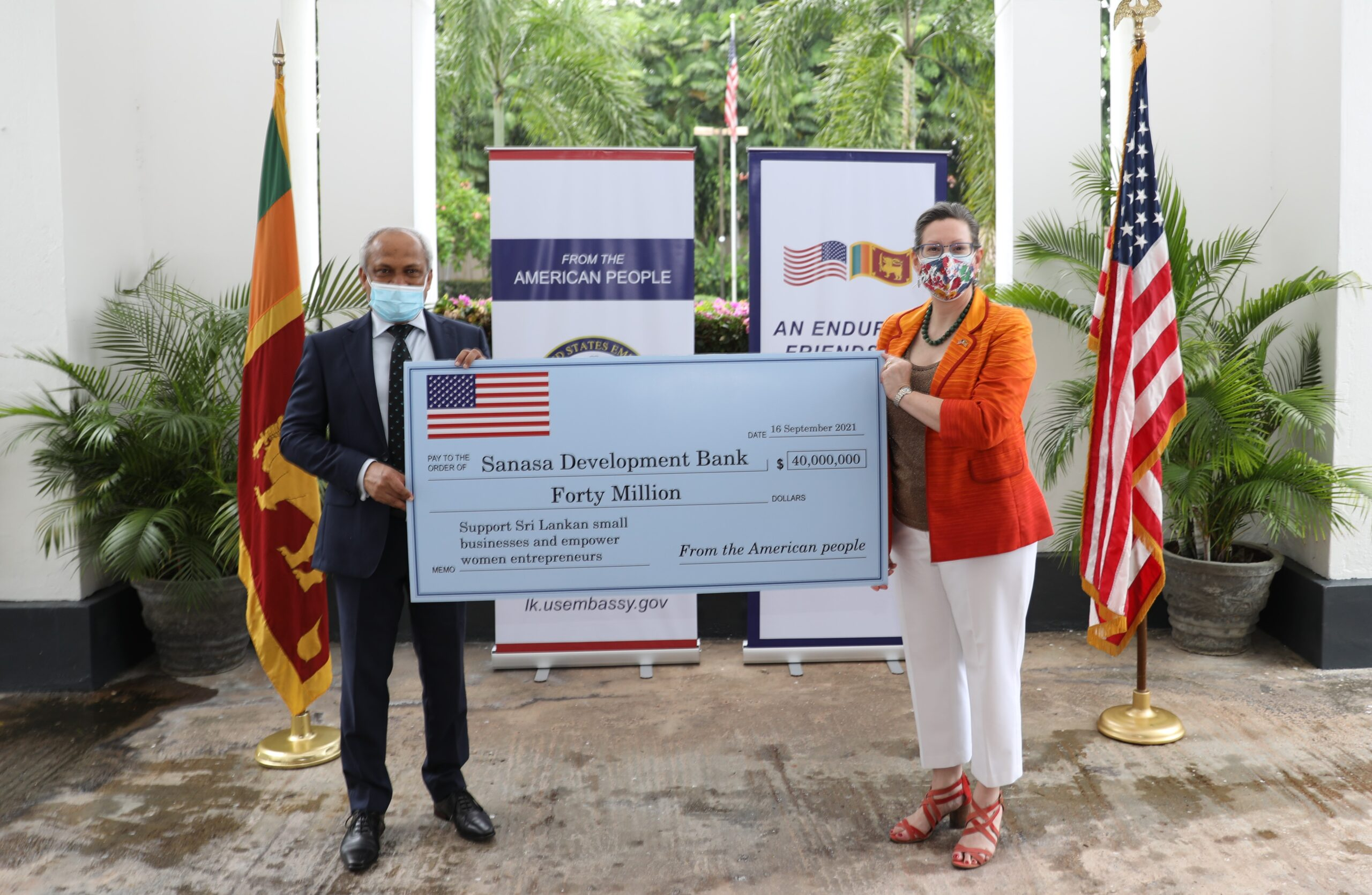 United States Delivers $40 Million in Financing to Support Small Businesses and Empower Sri Lankan Women