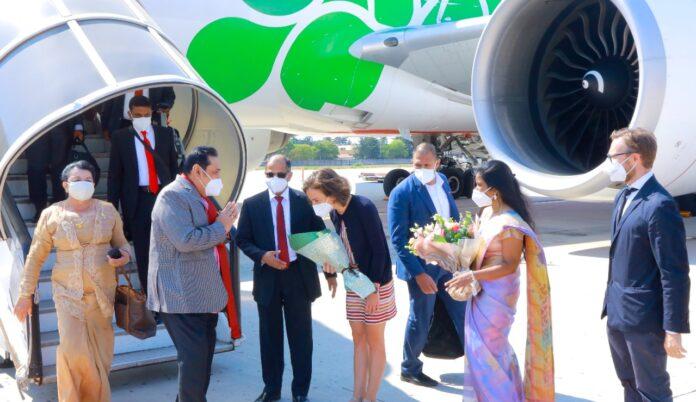 Prime Minister Mahinda Rajapaksa Arrives in Bologna Italy for G20 Interfaith Forum