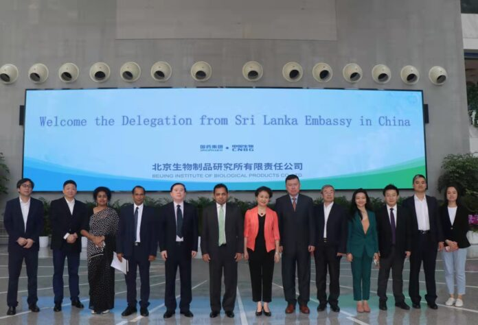 Ambassador of Sri Lanka to China visits the Sinopharm head office and repeats request for a vaccine refilling plant