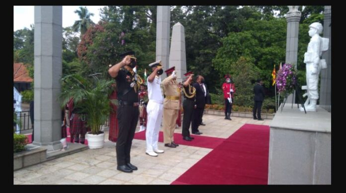 Indian Army Chief paid his tributes to the Indian soldiers at IPKF Memorial
