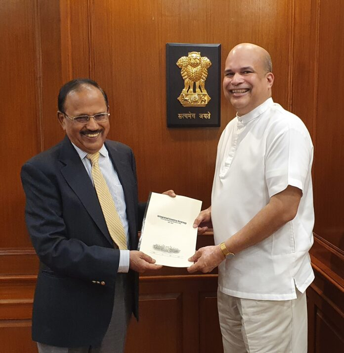 High Commissioner of Sri Lanka to India Milinda Moragoda calls on India's National Security Advisor Shri Ajit Doval